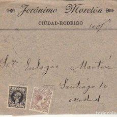 Sellos: CIUDAD RODRIGO (SALAMANCA ) A MADRID.1899.. Lote 170862795