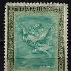 Sellos: 1930 ESPAÑA EDIFIL 517 - QUINTA DE GOYA EXPOSICIÓN SEVILLA - MH* NUEVO CON FIJASELLOS . Lote 171018693