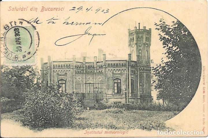 Sellos: CORREO TASADO. RUMANIA. POSTAL CIRCULADA DE BUCAREST A BARCELONA.1903 - Foto 2 - 171223643