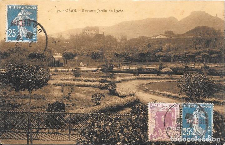Sellos: CORREO TASADO. ARGELIA. POSTAL CIRCULADA DE ORAN A VALENCIA. 1919 - Foto 2 - 171226704