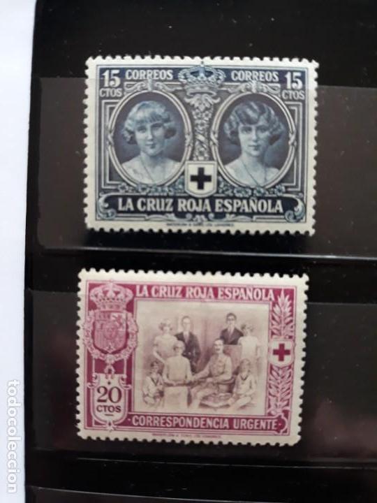 EDIFIL 329 * + 338 * . ESPAÑA 1926. PRO CRUZ ROJA (Sellos - España - Alfonso XIII de 1.886 a 1.931 - Nuevos)