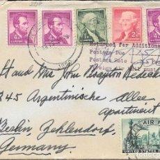 Sellos: CORREO TASADO. EEUU. SOBRE CIRCULADO DE CONNECTICA A BERLIN. 1950. . Lote 171229635