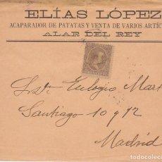 Sellos: SELLO 219. ALFONSO XIII. ALAR DEL REY A MADRID. 1900.. Lote 171241150