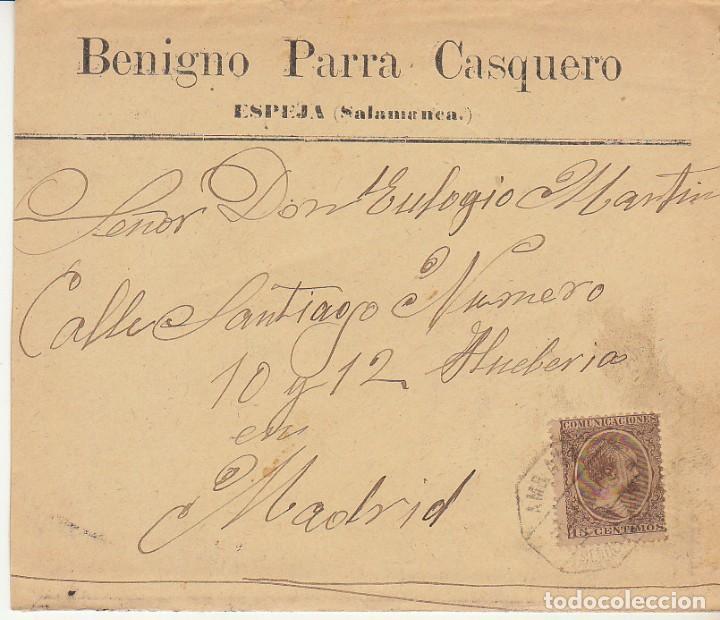 SELLO 219. ALFONSO XIII. ESPEJA (SALAMANCA) A MADRID.1900 (Sellos - España - Alfonso XIII de 1.886 a 1.931 - Cartas)