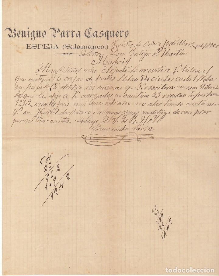 Sellos: Sello 219. ALFONSO XIII. ESPEJA (SALAMANCA) a MADRID.1900 - Foto 3 - 171241308