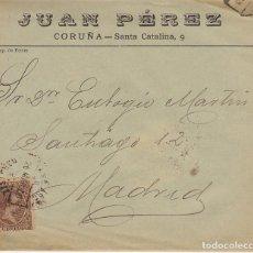 Sellos: SELLO 219. ALFONSO XIII. CORUÑA A MADRID. 1900.. Lote 171250002
