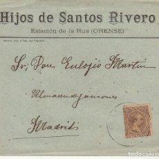 Sellos: SELLO 219. ALFONSO XIII. ESTACIÓN DE LA RUA(ORENSE) A MADRID. 1900.. Lote 171250943