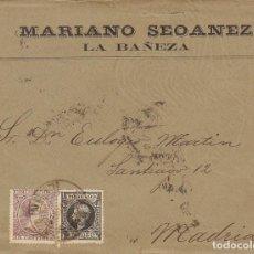 Sellos: SELLOS 219-240. ALFONSO XIII. LA BAÑEZA (LEÓN) A MADRID.1900.. Lote 171252194
