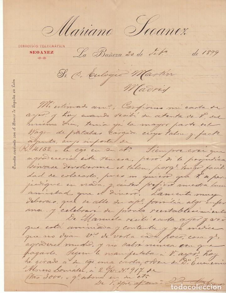 Sellos: Sellos 219-240. ALFONSO XIII. LA BAÑEZA (LEÓN) a MADRID.1900. - Foto 3 - 171252194
