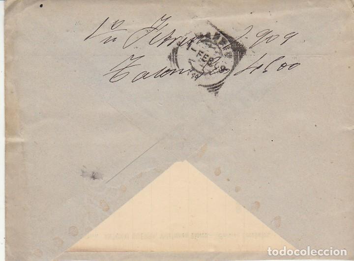 Sellos: Sello 246. ALFONSO XIII. CACABELOS (LEON) a MADRID. 1909.Bonito franqueo texto integro ver fotos adi - Foto 2 - 171361760
