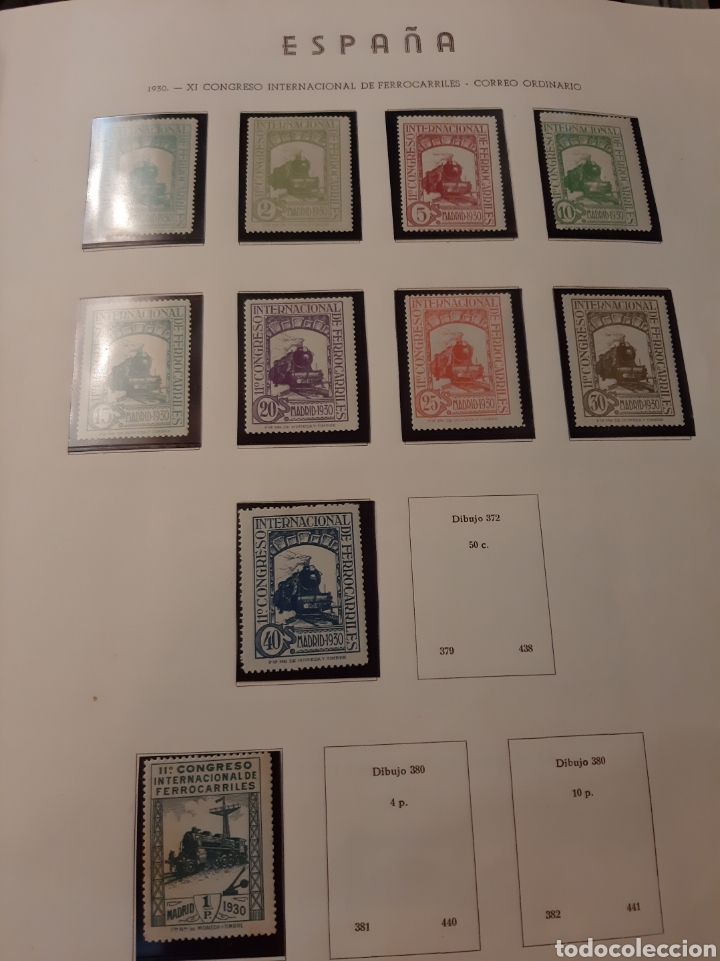 1930 FERROCARRILES LEVE CHARNELA 10 VALORES (Sellos - España - Alfonso XIII de 1.886 a 1.931 - Nuevos)