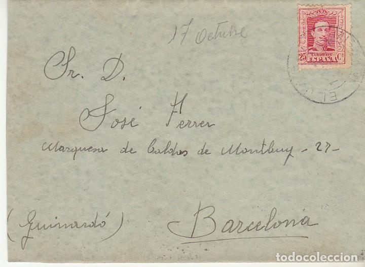 SELLO 317. ALFONSO XIII: ALBACETE A BARCELONA.1930 (Sellos - España - Alfonso XIII de 1.886 a 1.931 - Cartas)