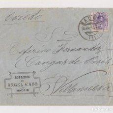 Sellos: SOBRE. MADRID. A VILLANUEVA. CANGAS DE ONÍS. ASTURIAS. 1913. Lote 171724413