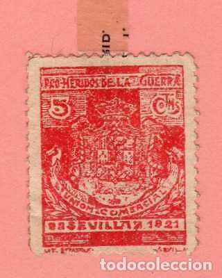 GUERRA DE AFRICA VIÑETA RARA BENEFICIENCIA SEVILLA. PRO HERIDOS. (Sellos - España - Alfonso XIII de 1.886 a 1.931 - Usados)