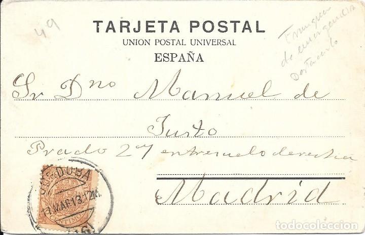 FRAUDE AL CORREO. TARJETA POSTAL CIRCULADA DE CORDOBA A MADRID. 1913 (Sellos - España - Alfonso XIII de 1.886 a 1.931 - Cartas)
