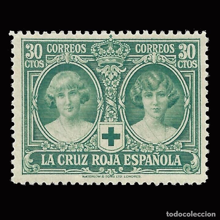 Sellos: Sellos España.1926. Pro Cruz Roja Española.30c. verde azul.Nuevo**. Edifil 332 - Foto 3 - 172674417