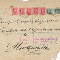 Timbres: CARTA CIRCULADA ENTRE AYAMONTE Y MANZANILLA. FRANQUEO 5 DEL EDIFIL 317 Y 2 DEL 315. 1929.. Lote 173438763