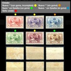 Sellos: SERIE COMPLETA - EDIFIL SR 1/6 - EXPOSICIÓN DE INDUSTRIAS DE MADRID - 1907 - REF702. Lote 173506828