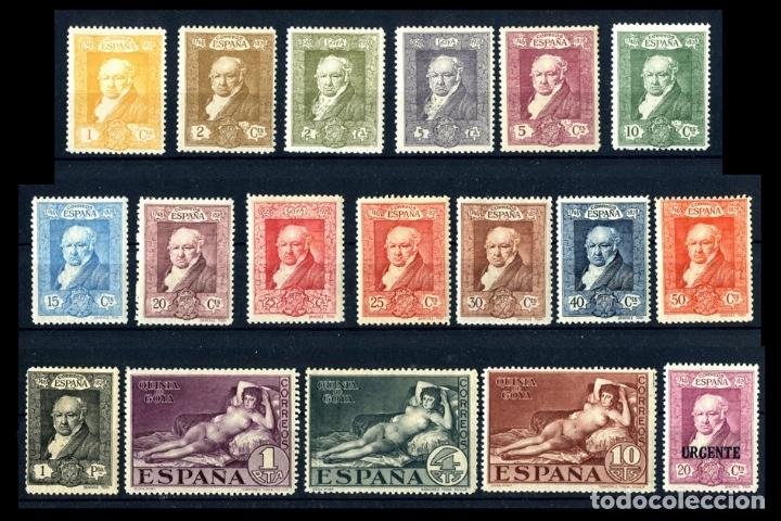 Sellos: SERIE COMPLETA - EDIFIL 499/516 - QUINTA DE GOYA EN LA EXPOSICIÓN DE SEVILLA - 1930 - REF708 - Foto 2 - 173518473