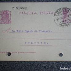 Sellos: LOTE 13 ENTEROS POSTALES VARIADOS CON FECHADORES DE NAVARRA - VER TODOS FICHA VENTA-. Lote 173534800