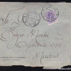 Sellos: F6-10- CARTA RUA DE VALDEORRAS ORENSE 1910. . CON TEXTO. Lote 173610384