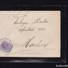 Sellos: F6-13- CARTA ALAR DEL REY PALENCIA 1910 . AMBULANTE 5 SANTANDER- MADRID CON TEXTO. . Lote 173648694