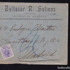 Sellos: F6-17- CARTA ALCALA DE HENARES MADRID 1910. CON TEXTO. Lote 173651224