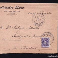 Sellos: F6-18- CARTA VINOS FINOS CARRION DE CALATRAVA CIUDAD REAL 1907. CON TEXTO. Lote 173652480