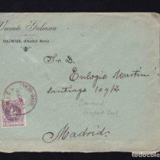 Sellos: F6-18- CARTA DAIMIEL CIUDAD REAL 1904. CON TEXTO. Lote 173652620