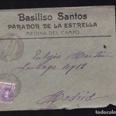 Sellos: F6-19- CARTA PARADOR DE LA ESTRELLA MEDINA DEL CAMPO VALLADOLID 1906. CON TEXTO. Lote 173653279