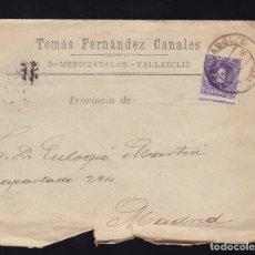 Sellos: F6-19- CARTA GRANDES BODEGAS DE VINOS VALLADOLID 1908. CON TEXTO. DENTADO DESPLAZADO. Lote 173653513