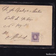 Sellos: F6-23- CARTA MADRIGUERA MATASELLOS RIAZA SEGOVIA 1904. CON TEXTO. Lote 173655160