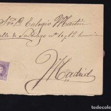 Sellos: F6-23- CARTA BECERRIL MATASELLOS RIAZA SEGOVIA 1905. CON TEXTO. Lote 173655235