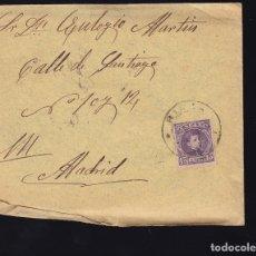 Sellos: F6-23- CARTA MADRIGUERA MATASELLOS RIAZA SEGOVIA 1906. CON TEXTO. Lote 173655400