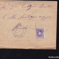 Sellos: F6-24- CARTA MADRIGUERA MATASELLOS RIAZA SEGOVIA 1907. CON TEXTO. Lote 173655524