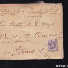 Sellos: F6-24- CARTA MADRIGUERA MATASELLOS RIAZA SEGOVIA 1904. CON TEXTO. Lote 173655642