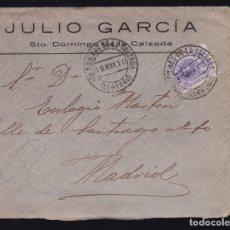 Sellos: F6-25- CARTA SANTO DOMINGO DE LA CALZADA . LOGROÑO 1910. CON TEXTO. Lote 173656333