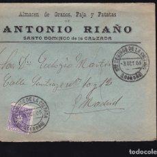 Sellos: F6-25- CARTA SANTO DOMINGO DE LA CALZADA. LOGROÑO 1905. CON TEXTO. Lote 173656454