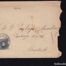 Sellos: F6-26- CARTA SANTO DOMINGO DE LA CALZADA LOGROÑO 1902. CON TEXTO. Lote 173657144