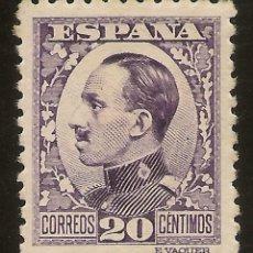 Sellos: ESPAÑA EDIFIL 494* MH 20 CÉNTIMOS VIOLETA ALFONSO XII VAQUER 1930/31 NL298. Lote 173840134