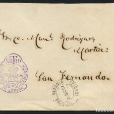 Sellos: ESPAÑA, SOBRE, FRANQUICIA POSTAL, DOCTOR TTHEBUSSEM, 1907, CÁDIZ. Lote 174035695