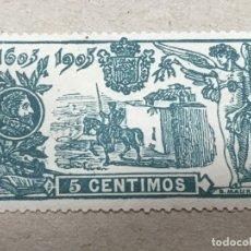Sellos: EDIFIL 257 5 CTS VERDE III CENTENARIO QUIJOTE,NUEVO CON FIJASELLOS, BUEN ESTADO.. Lote 174045717