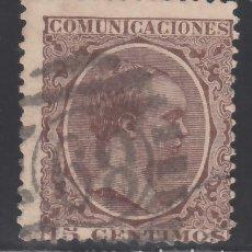 Sellos: ESPAÑA,1889 EDIFIL Nº 219, TIPO PELÓN, MATASELLOS NUMERAL EXTRANJERO, . Lote 174194013