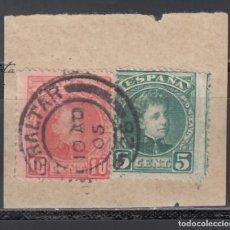 Sellos: ESPAÑA,1901 EDIFIL Nº 242, 243, , TIPO CADETE, MATASELLOS DE GIBRALTAR,. Lote 174194212