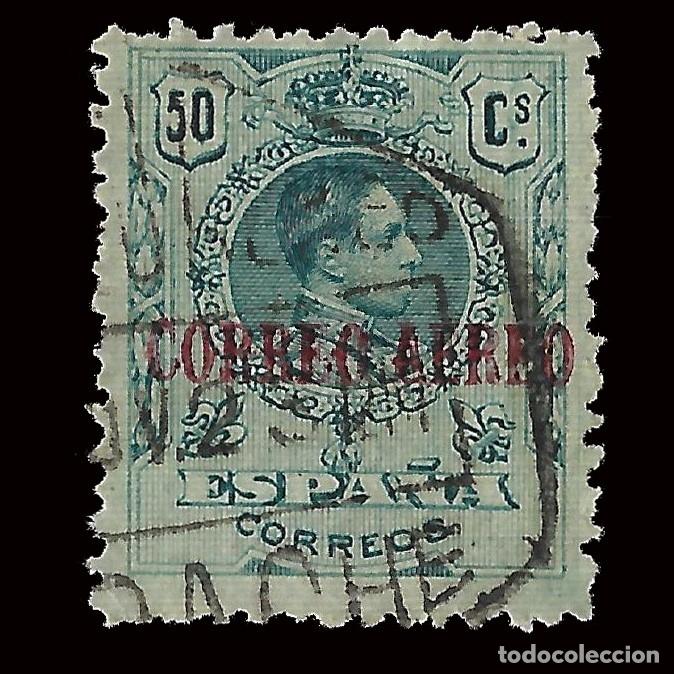 1920.ALFONSO XIII.50C AZUL VERDE. USADO. EDIFIL Nº295.ENVÍOS COMBINADOS (Sellos - España - Alfonso XIII de 1.886 a 1.931 - Usados)