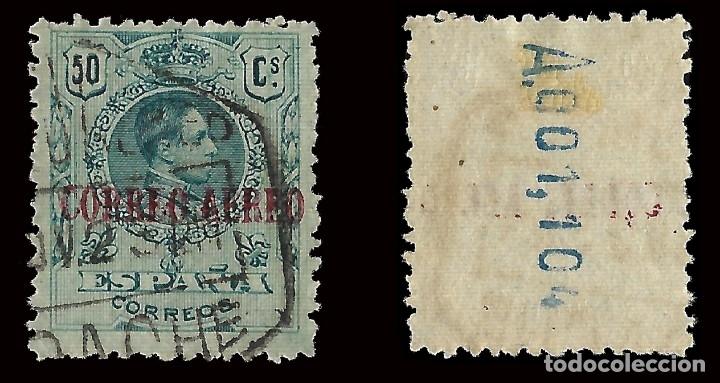 Sellos: 1920.Alfonso XIII.50c azul verde. Usado. Edifil nº295.Envíos combinados - Foto 2 - 174321288