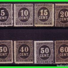 Sellos: FISCALES 1898 IMPUESTO DE GUERRA, ALEMANY Nº 21 A 28 (*). Lote 174430090