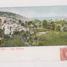 Sellos: BONITA POSTAL. LAS PALMAS. 1907. SELLO CADETE CON PAQUEBOT. A FRANCIA. CANARIAS. Lote 174446633