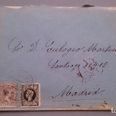 Sellos: ESPAÑA - 1898 - SOBRE CON CARTA COMPLATA SANTO DOMINGO DE LA CALZADA -MADRID - EDIFIL 219 Y 240.. Lote 175275119