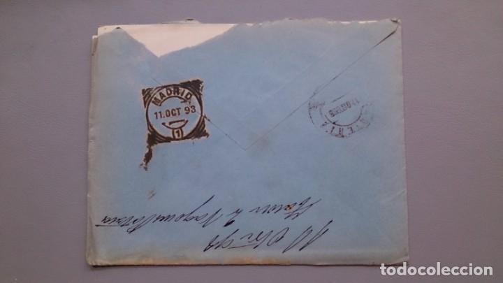 Sellos: ESPAÑA - 1898 - SOBRE CON CARTA COMPLATA SANTO DOMINGO DE LA CALZADA -MADRID - EDIFIL 219 Y 240. - Foto 2 - 175275119